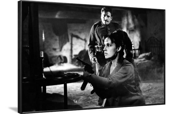 Mata-Hari agent H.21 by JeanLouisRichard with Jeanne Moreau, 1964 (b/w photo)--Framed Photo