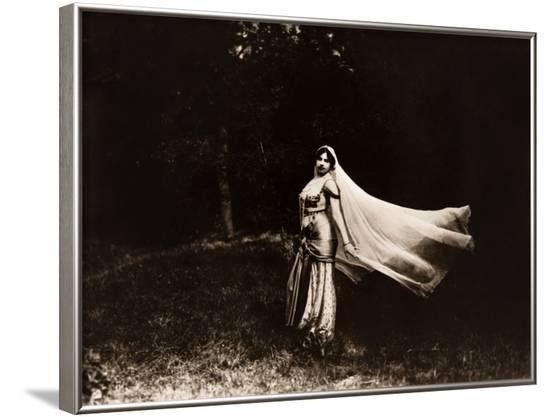 Mata Hari dancing, ca. 1910--Framed Photo
