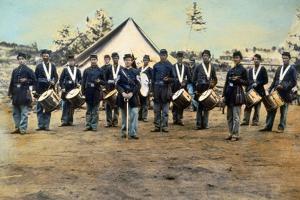 Civil War Soldiers Posing at Encampment by Mathew B. Brady Studio