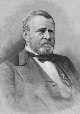 General Ulysses Simpson Grant, Engraved from a Photograph, Illustration from 'Battles and Leaders… by Mathew Brady