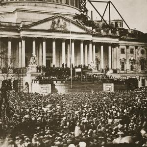 Inauguration of President Lincoln, 4th March 1861 by Mathew Brady