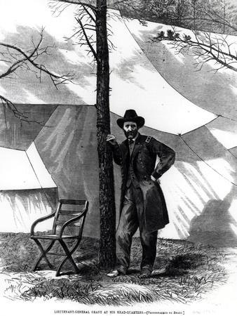 Lieutenant General Ulysses S. Grant (1822-85) at His Head-Quarters, from Harpers Weekly