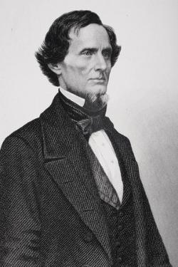 Portrait of Jefferson Davis (1808-1889) (Detail) by Mathew Brady