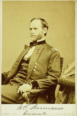 Portrait Photograph of William Tecumseh Sherman by Mathew Brady