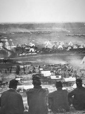 Union Army Supply Base at Cumberland Landing on the Pamunkey River, Virginia, May 1862 by Mathew Brady