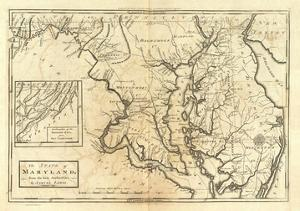 State of Maryland, c.1795 by Mathew Carey