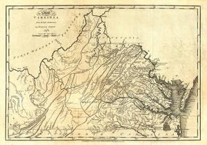 State of Virginia, c.1795 by Mathew Carey