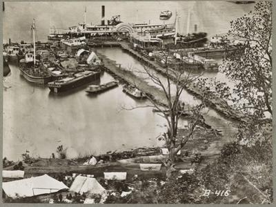 Landing supplies on the James River, Virginia, 1865 by Mathew & studio Brady