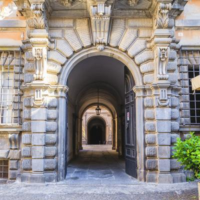 Elaborate Entry Way In Italy
