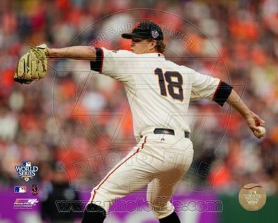 Matt Cain Game Two of the 2010 World Series Action