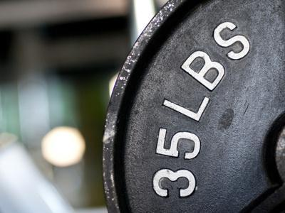 Close-Up of Gym Weightlifting Equipment