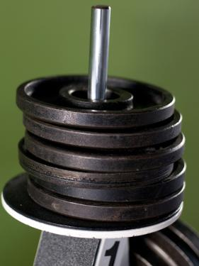 Close-Up of Gym Weightlifting Equipment by Matt Freedman