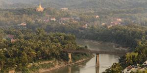 Laos, Luang Prabang. View from Mount Phousi by Matt Freedman
