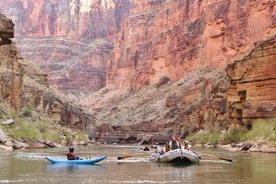 Rafters and Cliffs, Grand Canyon National Park, Arizona, USA