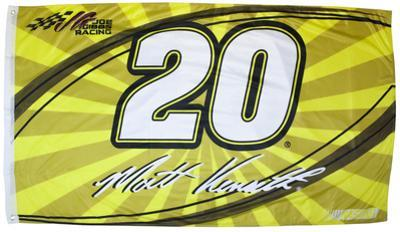 Matt Kenseth One-Sided Flag with Number