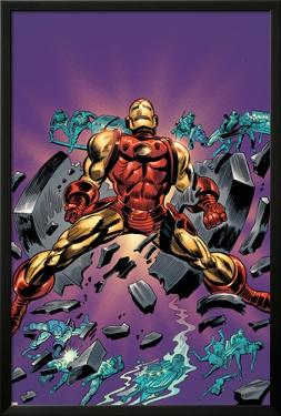 Gene Colan Tribute Book Cover: Iron Man by Matt Milla