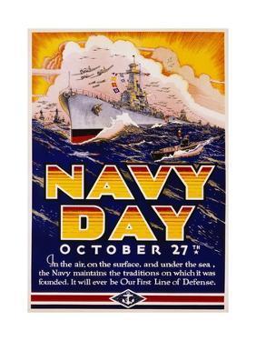 Navy Day October 27th Poster by Matt Murphey