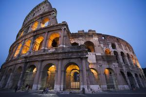 Lights in the Colosseum in the Evening by Matt Propert