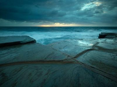 Fault Lines in Sandstone Rock Platform, Bouddi National Park, Nsw Australia