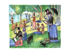 George Seurat's painting, A Sunday Afternoon on the Island of La Grande Jatte. by Matt Wuerker