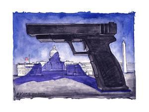 Large gun casts a shadow over Capitol Hill. by Matt Wuerker