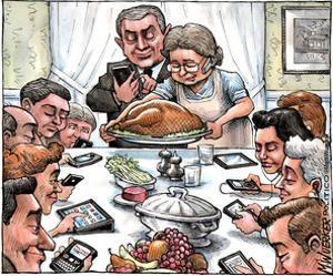 Thanksgiving Dinner. by Matt Wuerker