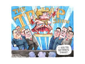 The Trump Show. T. I miss the old debate format … by Matt Wuerker