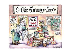 Ye Oldie Fearmonger Shoppe.  New!  Just in from the RNC. by Matt Wuerker