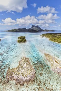 Aerial View of Bora Bora Island, French Polynesia by Matteo Colombo