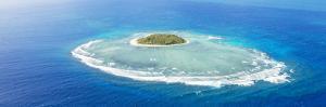 Aerial View of Tavarua, Heart Shaped Island, Mamanucas Islands, Fiji by Matteo Colombo