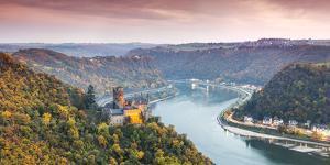 Burg Katz and Romantic Rhine, Sankt Goarhausen, Rhineland-Palatinate, Germany by Matteo Colombo