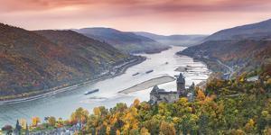 Burg Stahleck and River Rhine, Bacharach, Rhineland-Palatinate, Germany by Matteo Colombo