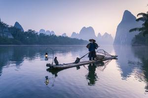 China, Guanxi, Yangshuo. Old Chinese Fisherman by Matteo Colombo