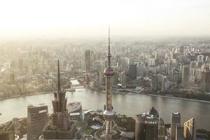 China, Shanghai. Elevated View of the City from World Financial Center Tower by Matteo Colombo