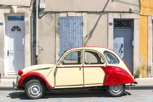 France, Provence Alps Cote D'Azur, Saint Remy De Provence. Street View with Old Fashioned 2Cv Car by Matteo Colombo