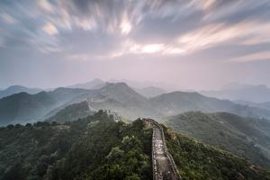 Hebei, China. the Great Wall of China, Jinshanling Section, at Sunrise, Long Exposure by Matteo Colombo