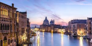 Italy, Veneto, Venice. Santa Maria Della Salute Church and Grand Canal at Sunrise by Matteo Colombo