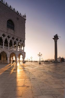 Italy, Venice. Doges Palace and Piazzetta San Marco at Sunrise by Matteo Colombo