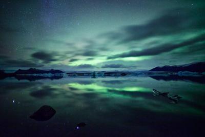 Northern Lights over Jokulsarlon by Matteo Colombo