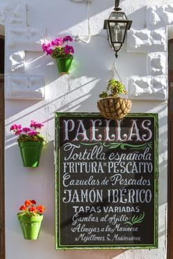 Spain, Andalusia, Cadiz Province, Tarifa. Outdoor Cafè in the Old Town by Matteo Colombo