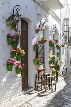 Spain, Andalusia, Cadiz Province, Tarifa. Street in the Old Town with Typical Whitewashed Buildings by Matteo Colombo