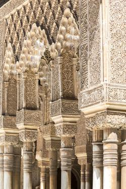 Spain, Andalusia, Granada. the Alhambra. Ornate Arches Inside the Alhambra by Matteo Colombo