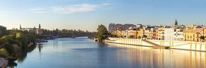 Spain, Andalusia, Seville. Triana District at Sunrise with Guadalquivir River by Matteo Colombo