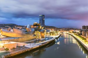 Spain, Basque Country, Bilbao. Guggenheim Museum by Canadian Architect Frank Gehry by Matteo Colombo