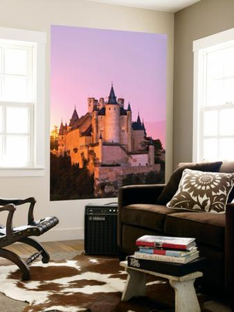 Spain, Castile and Leon, Segovia. the Alcazar and Cathedral at Sunset by Matteo Colombo