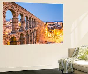 Spain, Castile and Leon, Segovia. the Roman Aqueduct by Matteo Colombo