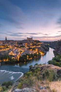 Spain, Castile?La Mancha, Toledo. City and River Tagus at Sunrise, High Angle View by Matteo Colombo