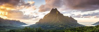Sunset over Mt Rotui, Moorea, French Polynesia by Matteo Colombo