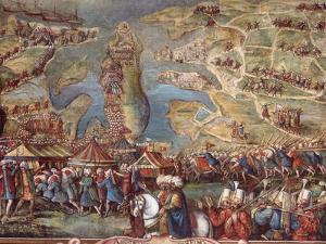 The Siege of Malta. Detail by Matteo Perez d'Aleccio
