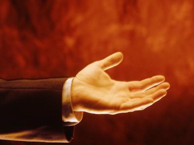 Businessman's Open Hand by Matthew Borkoski